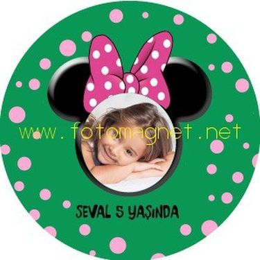Minnie Mouse Temalı Sticker