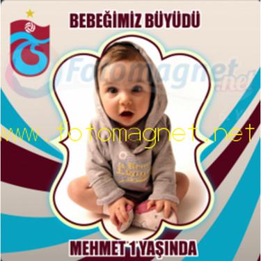 Trabzonspor Temalı Kare Magnet