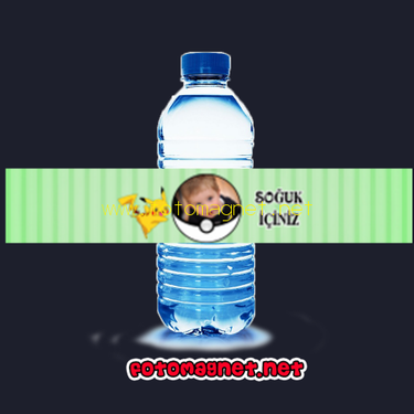 Pokemon ve Pikachu Temalı Parti Şişe Sticker