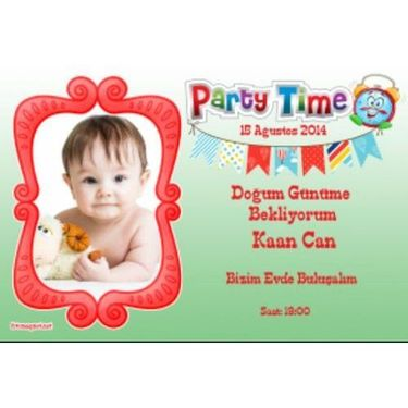 Ahşap Party Time Magnet 0396