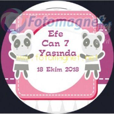 Sevimli Panda Temalı Parti Sticker